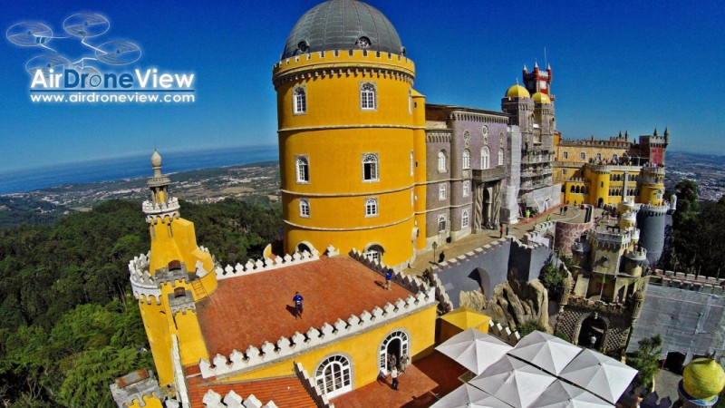 Palacio da Pena. Sintra, Portugal – Air Drone View