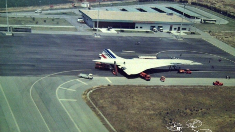 El Concorde en el Aeropuerto de Badajoz en1989