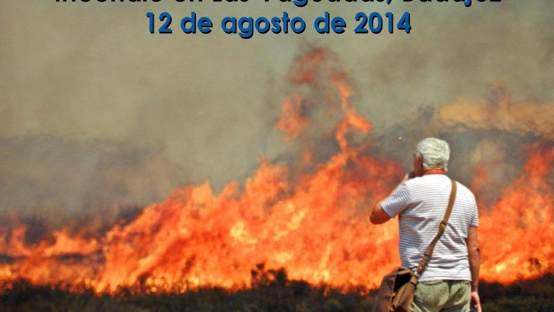 Vídeo del Incendio en Las Vaguadas, Badajoz – 12 de agosto de2014
