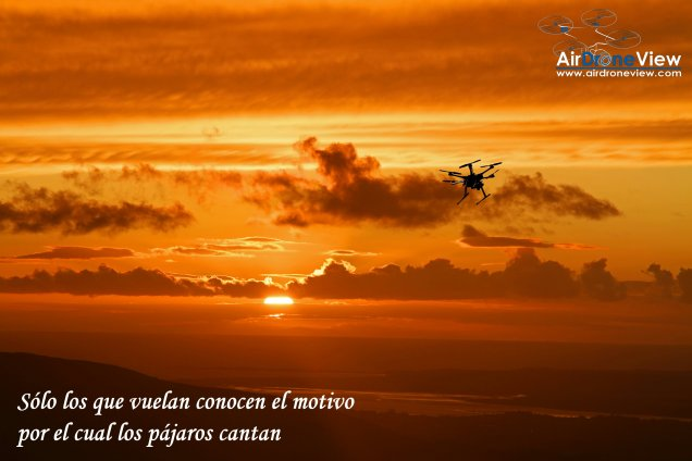 solo los que vuelan air drone view www.airdroneview.com drone flying sunset puesta de sol wallpaper dron rpa uav1