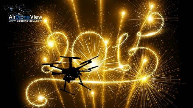 air drone view drones happy new year 2015 feliz año nuevo www.airdroneview.com drones badajoz extremadura merida agrotech gobex openfuture navidad año nuevo