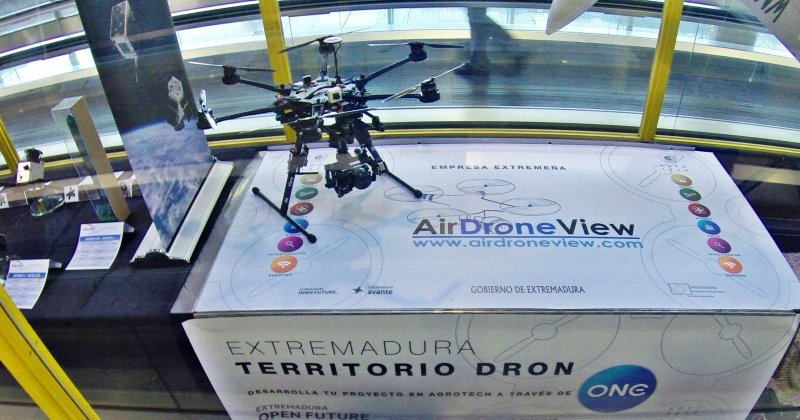 Air Drone View, operadora extremeña de Drones, en el aeropuerto Adolfo Suarez, Madrid –Barajas.