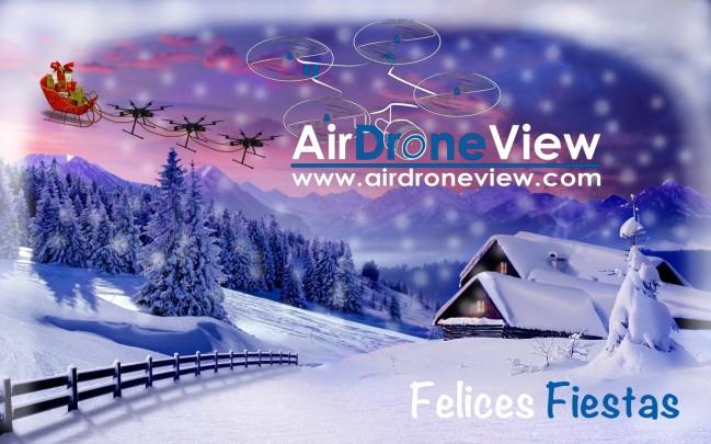 Feliz Navidad Air Drone View drones badajoz extremadura www.airdroneview.com drones papa noel flying santa rpas dron uav merry christmas foto video legal aesa navidad felices fiestas felicitacion 2014 2015