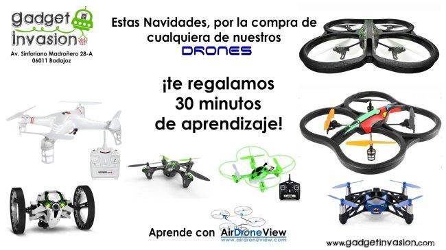 Gadget Invasion drones pilotar tienda badajoz air drone view www.airdroneview.com www.gadgetinvasion.com aprende drones regalo navidad