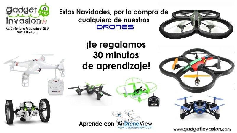 Estas navidades… ¡Aprende a pilotar drones con GadgetInvasion!