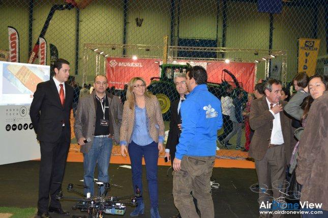 Agrotech Drones Rpas Agroexpo Don Benito Gobex Air Drone View www.airdroneview.com Cristina Teniente evento exhibicion aerea