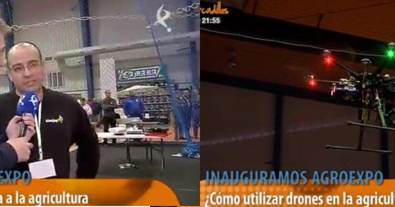 Agrotech Territorio Dron en AGROEXPO: Conexión Extremadura 28/01/2014 endirecto