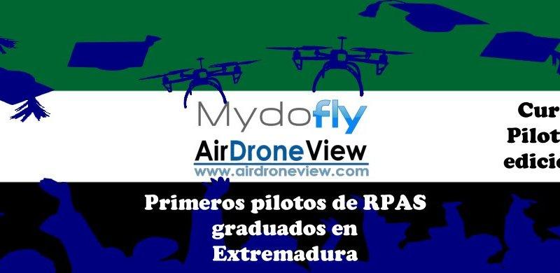 Primera promoción de pilotos de drones formados 100% enExtremadura