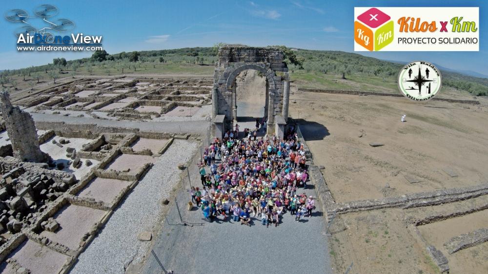 vila raiders via de la plata ruta camino arco de caparra ciudad romana gonzalo de la granja air drone view www.airdroneview.com ciudad romana