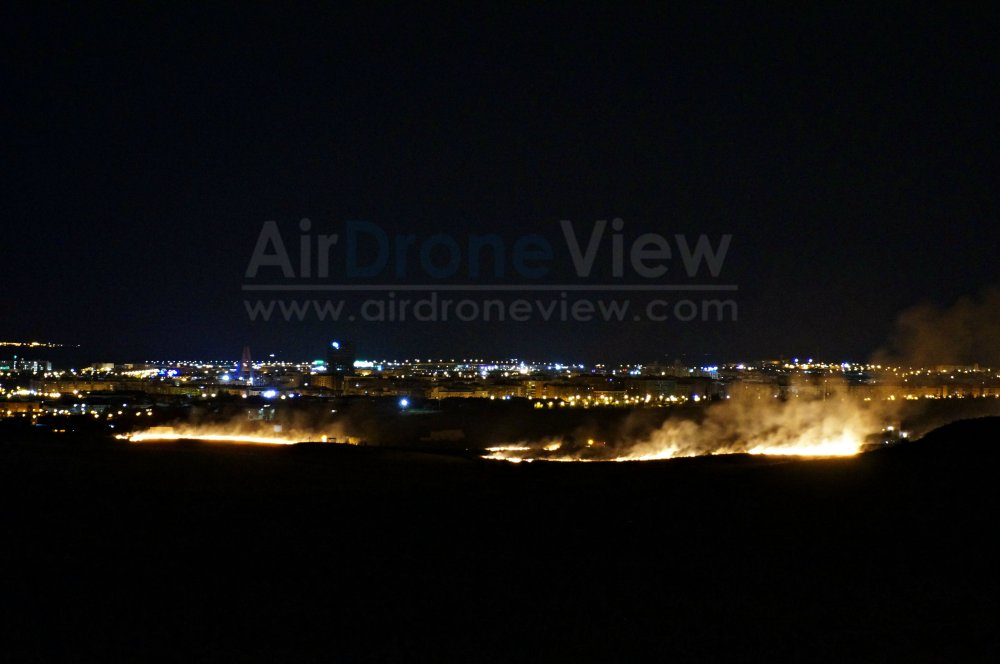 Incendio San Juan 2015 badajoz fuegos artificiales fuego vaguadas barriada de llera hoy noticia air drone view www.airdroneview.com 1a
