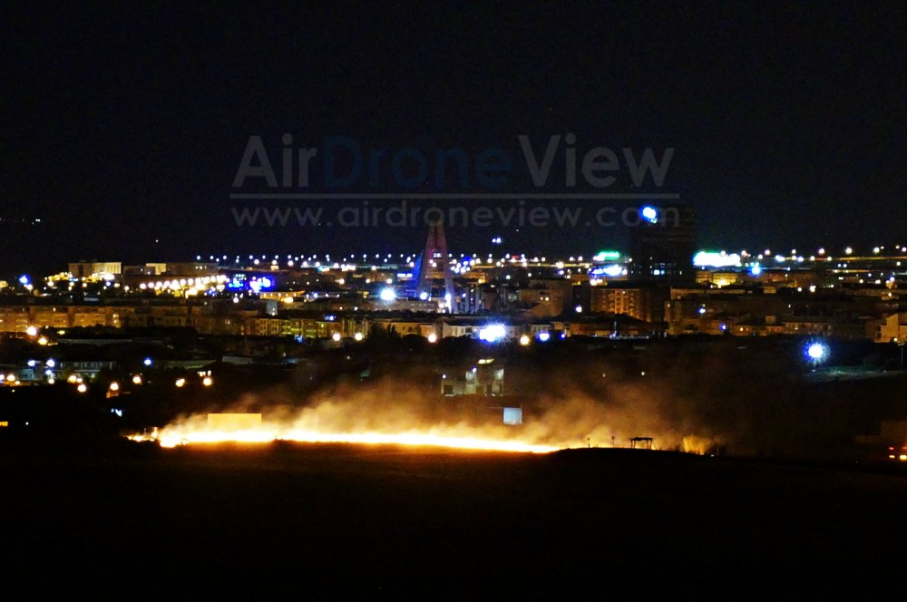 Incendio San Juan 2015 badajoz fuegos artificiales fuego vaguadas barriada de llera hoy noticia air drone view www.airdroneview.com 3a