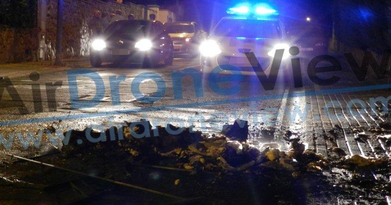Incendio provocado en un contenedor en Las Vaguadas,Badajoz
