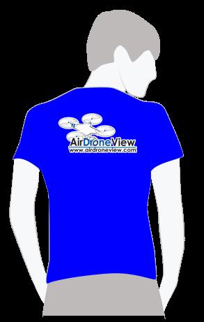 camiseta air drone view hombre www.airdroneview.com logo merchan drones rpas españa comprar oferta barato (1)