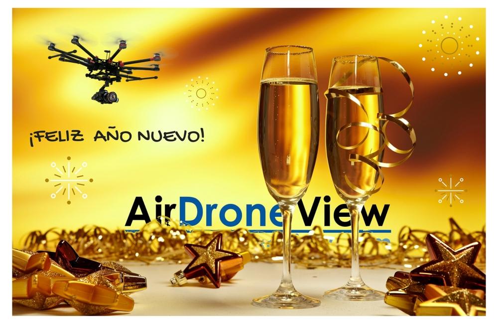 feliz año nuevo air drone view fiestas navidad drones rpas uav españa empresa lider extremadura badajoz operador 2015 2016