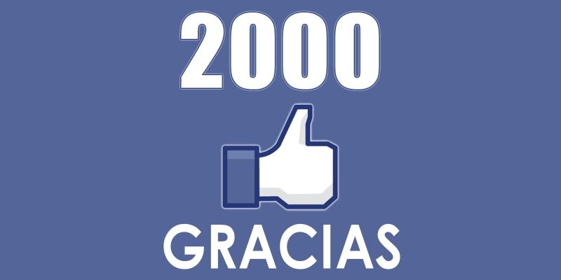 ¡Hemos alcanzado los 2000 seguidores enFacebook!