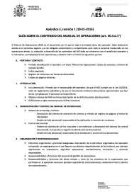 aesa manual de operaciones drones rpas modificacion apendice e ley 18 2014 españa rpas air drone view www.airdroneview.com noticia