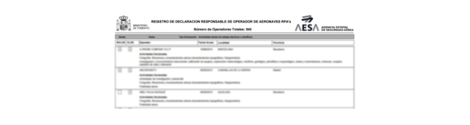 aesa operador rpas drones operadores 2015 cierre año nuevo total empresas legalizadas legislacion drones españa air drone view www.airdroneview.com