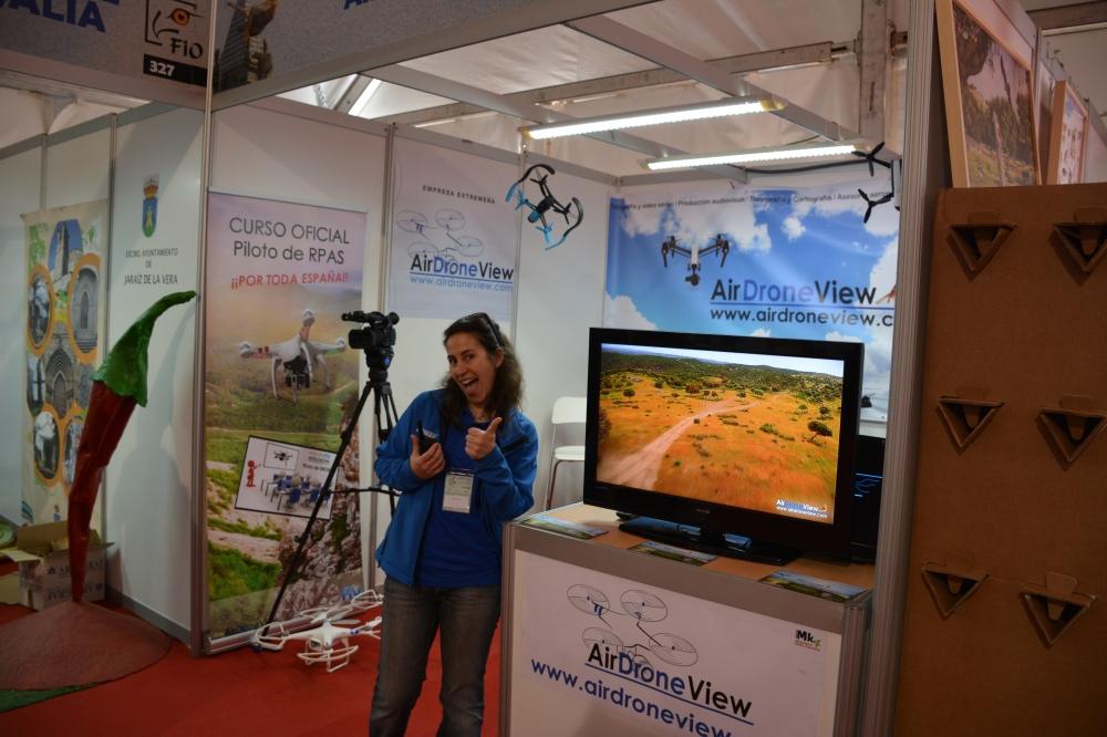 air drone view fio 2016 monfragüe empresa actividades a vista de pajaro aprende a volar un dron rpas españa parque nacional feval junta de extremadura stand videos (5)