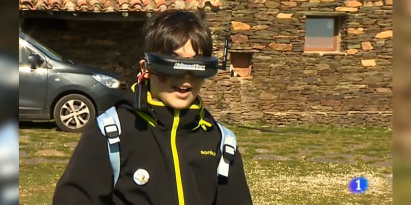 """Actividad """"A vista de pájaro"""" de Air Drone View en TVE1"""