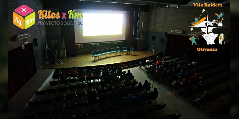 En la presentación del documental de Vila Raiders enOlivenza
