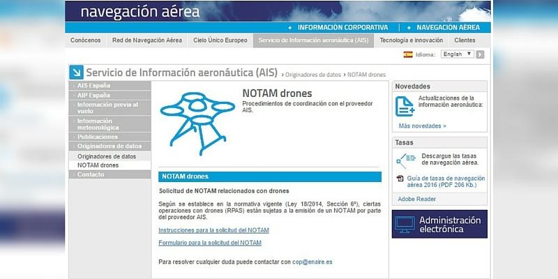 -NOTICIA- ENAIRE destina un apartado de su web para solicitarNotam