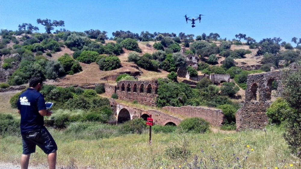 acueducto convento monasterio de la luz villanueva del fresno cheles olivenza extremadura drones air drone view www.airdroneview.com documental extremadura canal (2)