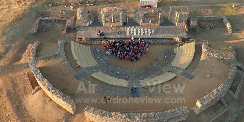 Boda en un enclave único: Teatro Romano deRegina