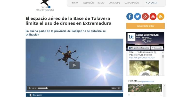 Entrevista a Air Drone View en Canal ExtremaduraRadio