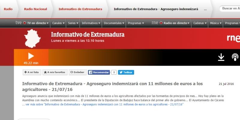 Entrevista en Radio Nacional deEspaña