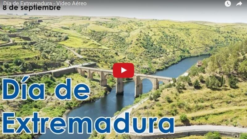 El vídeo con drones del Día de Extremadura del que todoshablan
