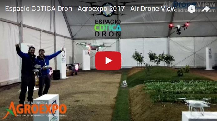 Vídeo de las exhibiciones y demostraciones en el Espacio CDTICA Dron – Agroexpo2017