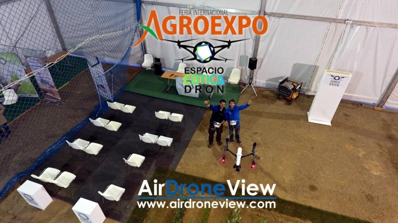 Demostraciones Air Drone View en Espacio CDTICA Dron – Agroexpo2017