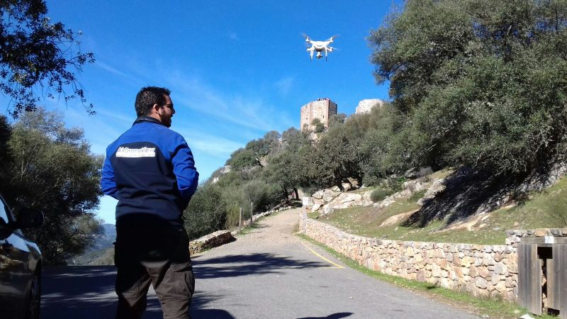 Rodaje con drones en Monfragüe para documental deTV