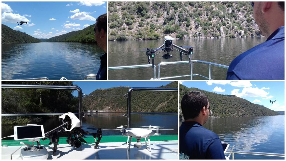 air drone view barco del tajo monfrague drone a vista de drone video promocional turismo extremadura badajoz caceres operadores inspire dji