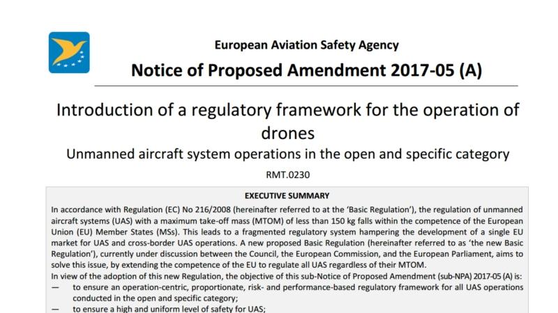 Nueva Ley de EASA sobre Drones – Plazo deconsulta
