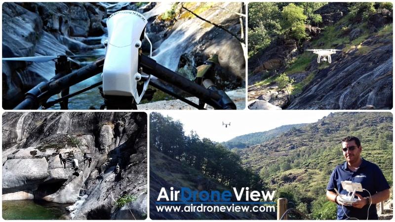 La Garganta de los Infiernos, a vista de drone para vídeoturístico