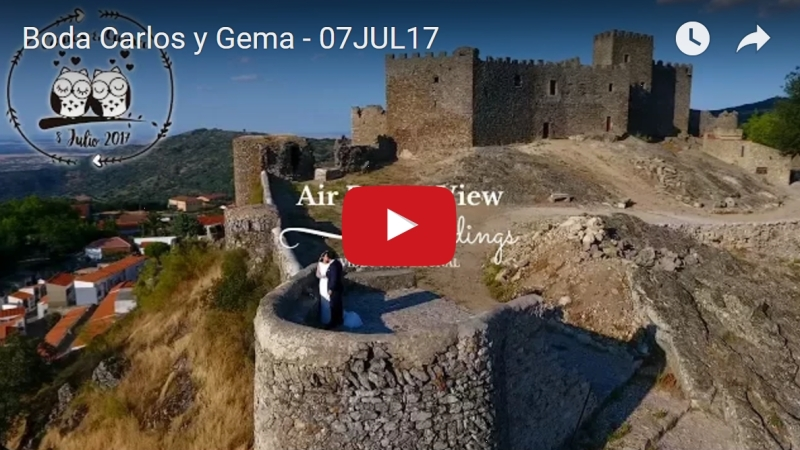 Un castillo, un drone y unaboda…