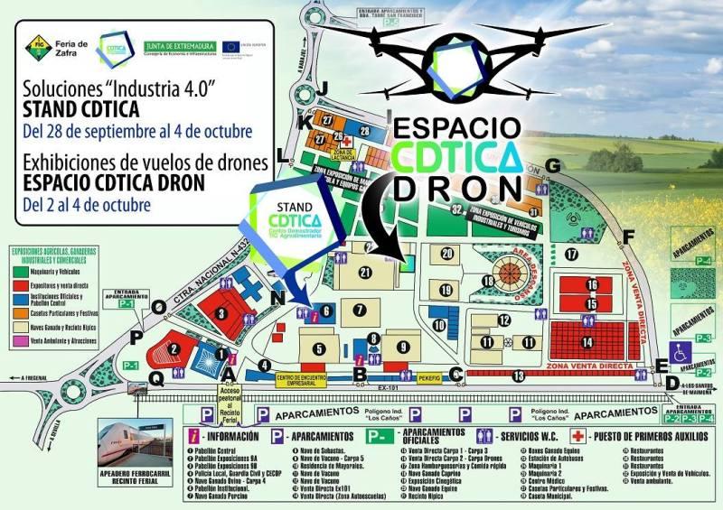 Desde el lunes podrás ver nuestras exhibiciones con drones en la Feria Internacional Ganadera deZafra