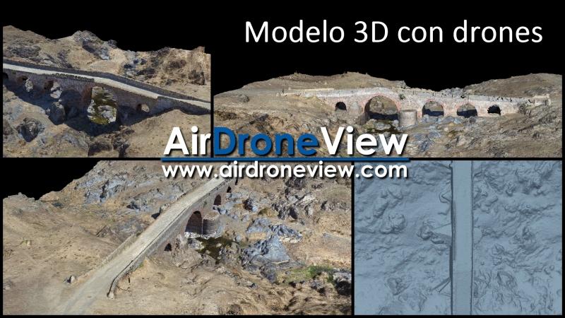 Drones al servicio del modelado 3D en el puente deGallicanta
