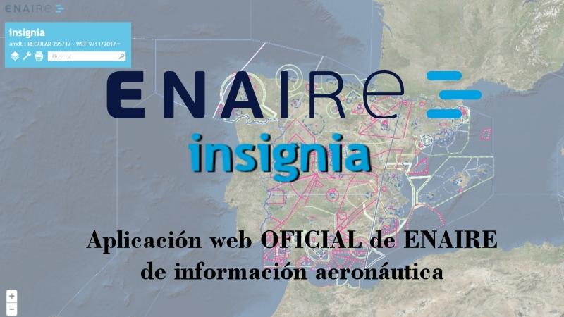 INSIGNIA, la aplicación web de ENAIRE para consultar espacios aéreos enEspaña