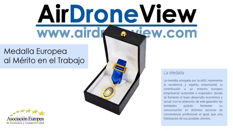 Air Drone View recibe mañana la Medalla Europea al Mérito en elTrabajo