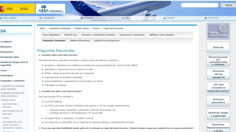 ¿Dudas sobre los cambios que se avecinan? AESA publica 42 preguntas frecuentes que aclaran bastante la futura situación de los drones enEspaña