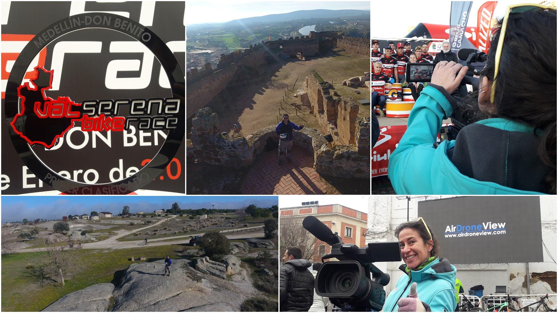 airdroneview valserena bike race medellin don benito castillo de magacela puente de la pared la haba molino btt extremadura caceres badajoz drones operadores legal video aereo