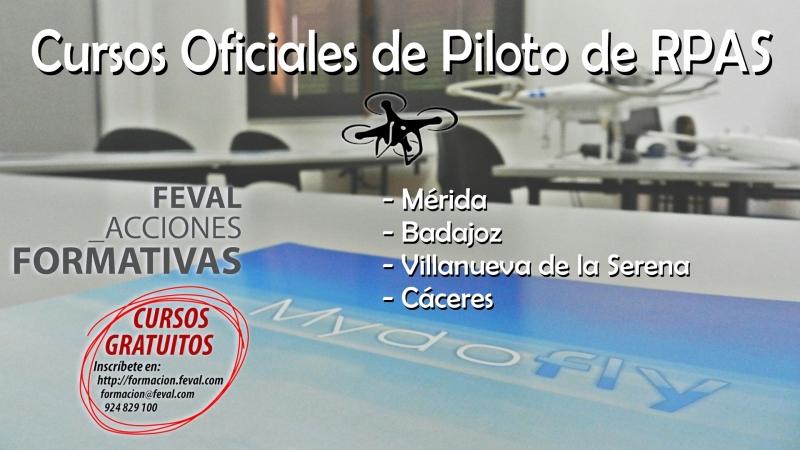 Esta semana hemos iniciado los Cursos Oficiales de Piloto de RPAS en Cáceres y Villanueva de laSerena