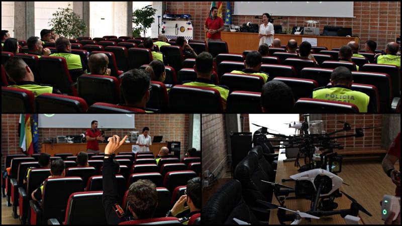 """Charla de Air Drone View en la Academia de Seguridad Pública de Extremadura durante las jornadas formativas """"Actuación PolicialRPAS"""""""