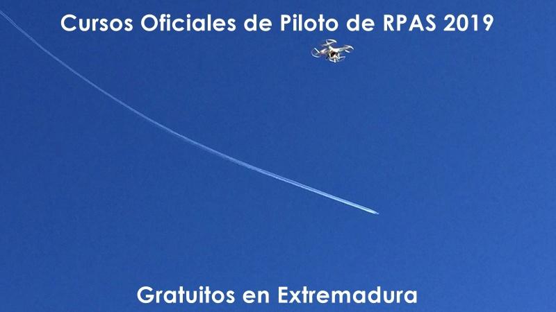Vuelven los Cursos Oficiales de Piloto de RPAS gratuitos del SEXPE en Extremadura en2019