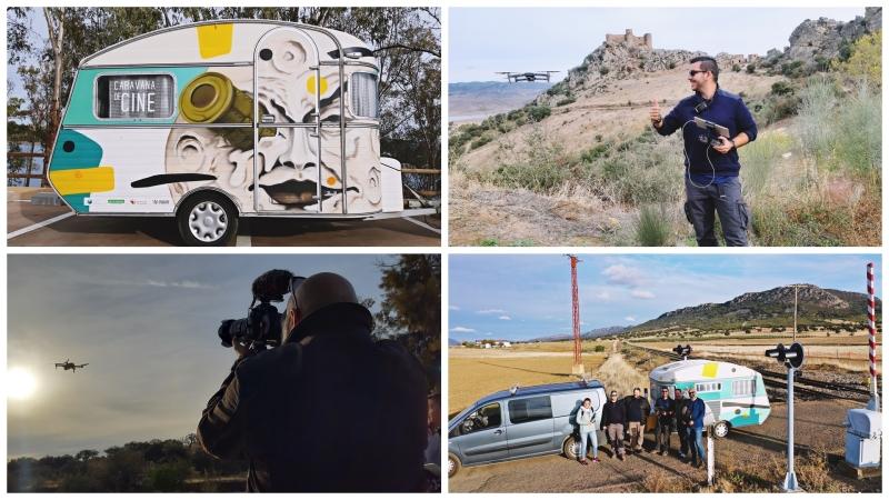 Filmando a la Caravana de Cine porExtremadura