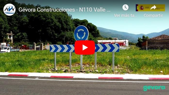 Vídeo de las obras de la N110 en el Valle del Jerte para GévoraConstrucciones