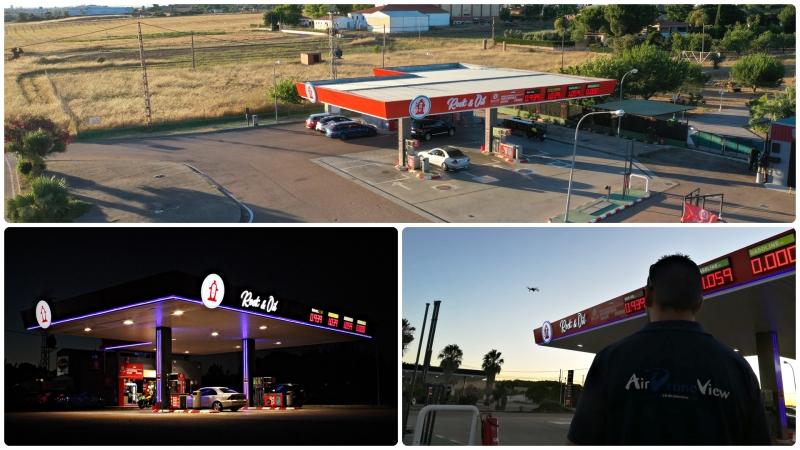 Filmando spots para la Gasolinera Rock &Oil