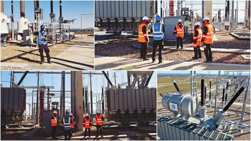 Grabando una subestación eléctrica para cliente del sectorrenovables